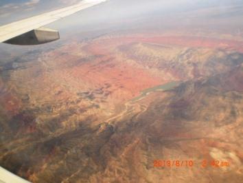 ゴビ砂漠上空